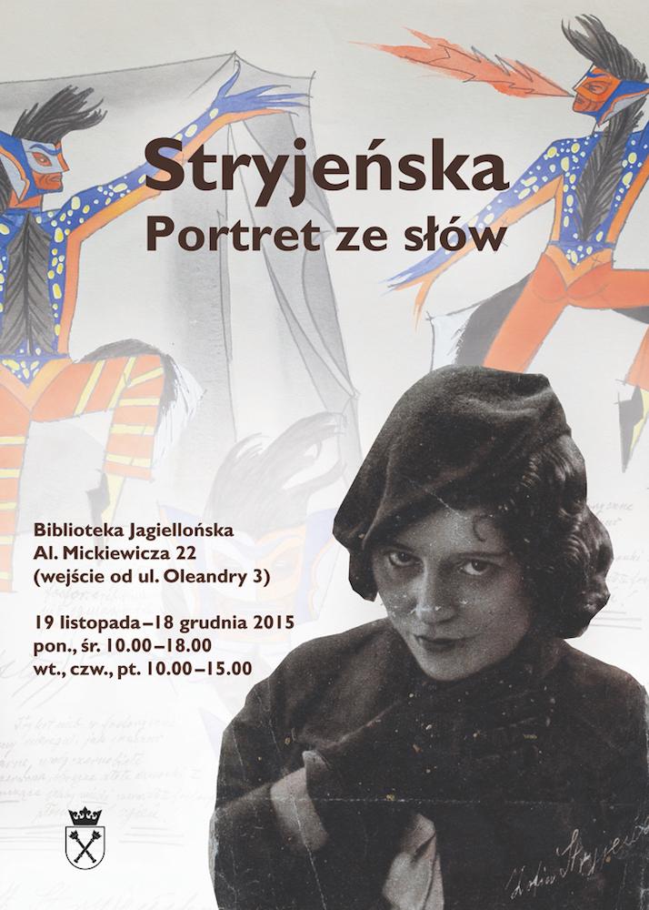 """Wystawa """"Stryjeńska. Portret ze słów"""", plakat (źródło: materiały prasowe organizatora)"""