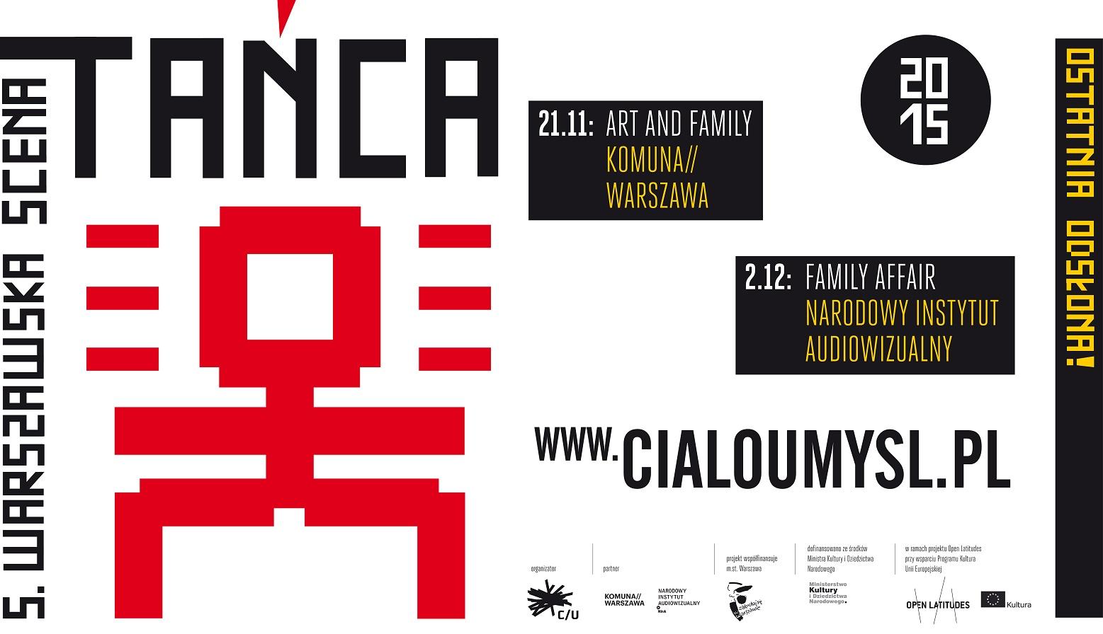 """""""Family Affair"""", Warszawska Scena Tańca, plakat (źródło: materiały organizatora)"""