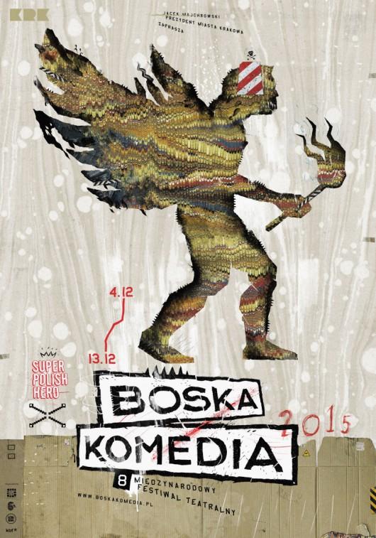 8. Międzynarodowy Festiwal Teatralny Boska Komedia – plakat (źródło: materiały prasowe)