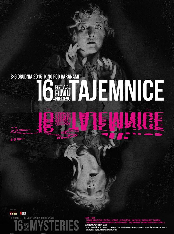 16. Festiwal Filmu Niemego Tajemnice – plakat (źródło: materiały prasowe organizatora)