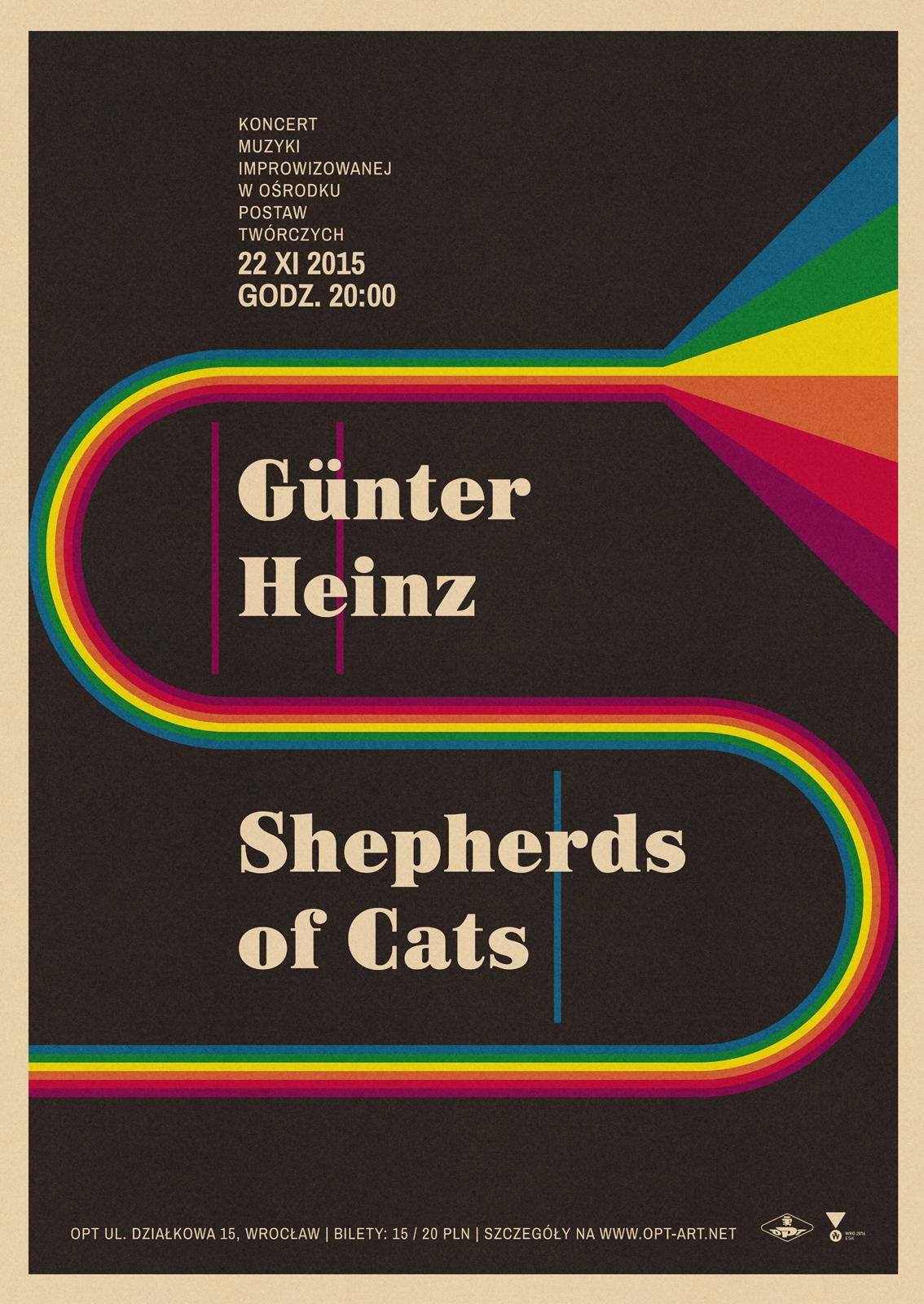 Günter Heinz i Shepherds of Cats – plakat (źródło: materiały prasowe organizatora)