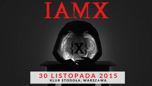 IAMX w klubie Stodoła – plakat (źródło: materiały prasowe organizatora)