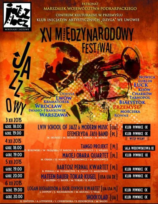 """Festiwal Jazzowy """"Jazz Bez"""" − plakat (źródło: materiały prasowe organizatora)"""