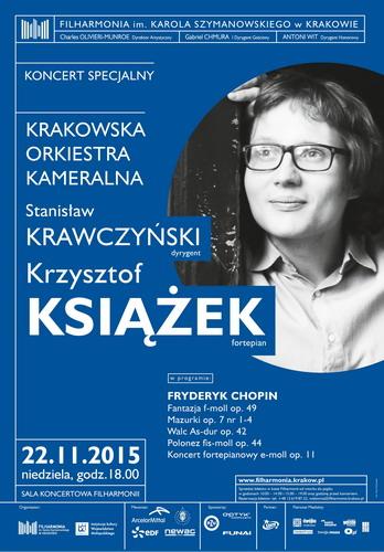 Krzysztof Książek, koncert specjalny − plakat (źródło: materiały prasowe organizatora)