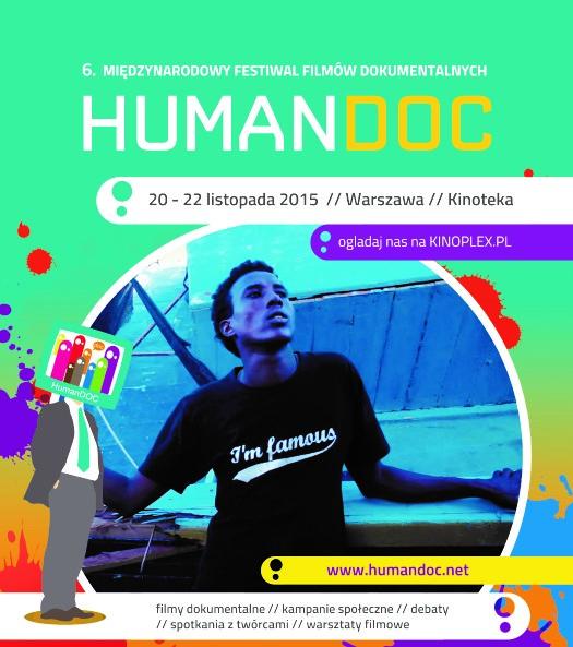Międzynarodowy Festiwal Filmów Dokumentalnych HumanDOC – plakat (źródło: materiały organizatora)