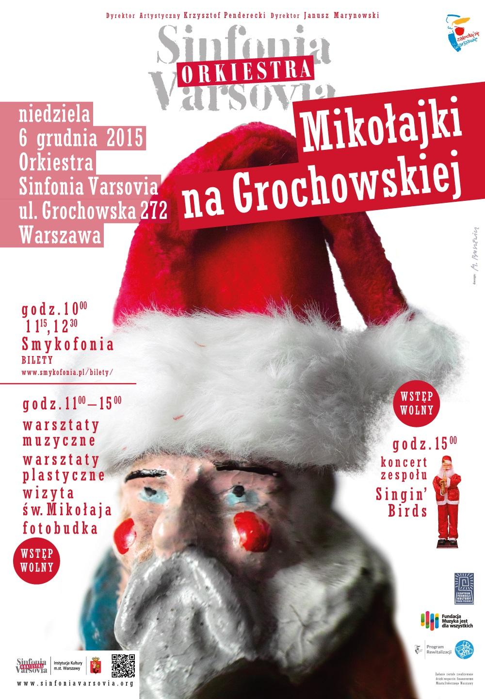 """""""Mikołajki na Grochowskiej"""" − plakat (źródło: materiały prasowe organizatora)"""