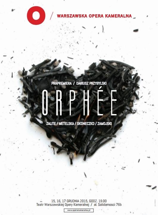 """Dariusz Przybylski, """"Orphée"""" − plakat (źródło: materiały prasowe organizatora)"""