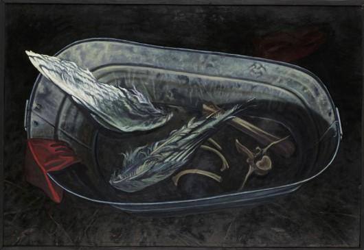"""Aldona Mickiewicz, """"Ikar I"""", 1988/89, olej, płótno, własność artystki (źródło: materiały prasowe)"""