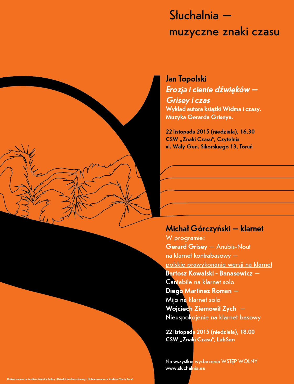 """""""Słuchalnia – muzyczne znaki czasu"""" – plakat (źródło: materiały prasowe)"""