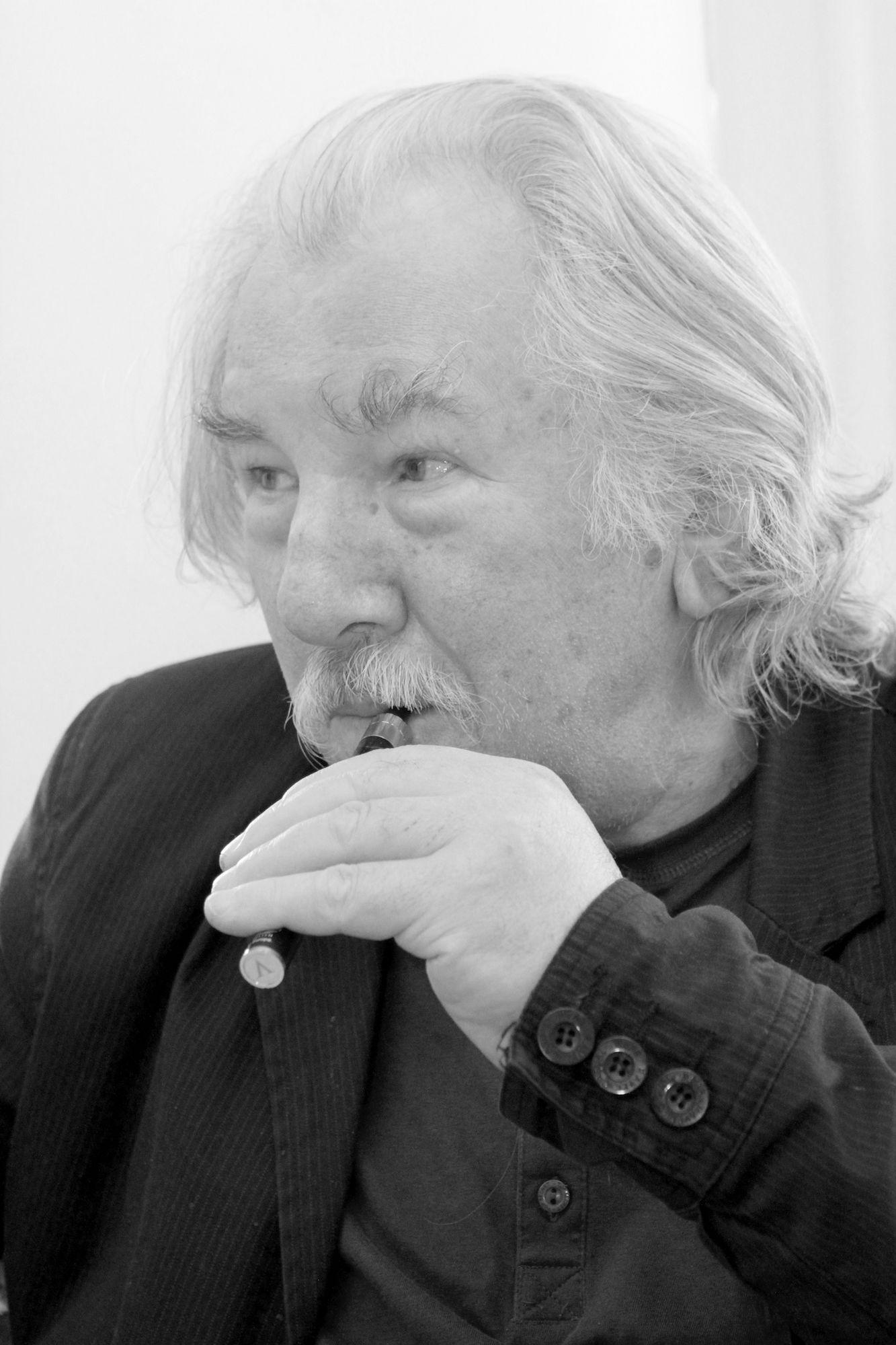 Zbigniew Warpechowski w Galerii Monopol w Warszawie, fot. Leszek Fidusiewicz (źródło: materiały prasowe organizatora)