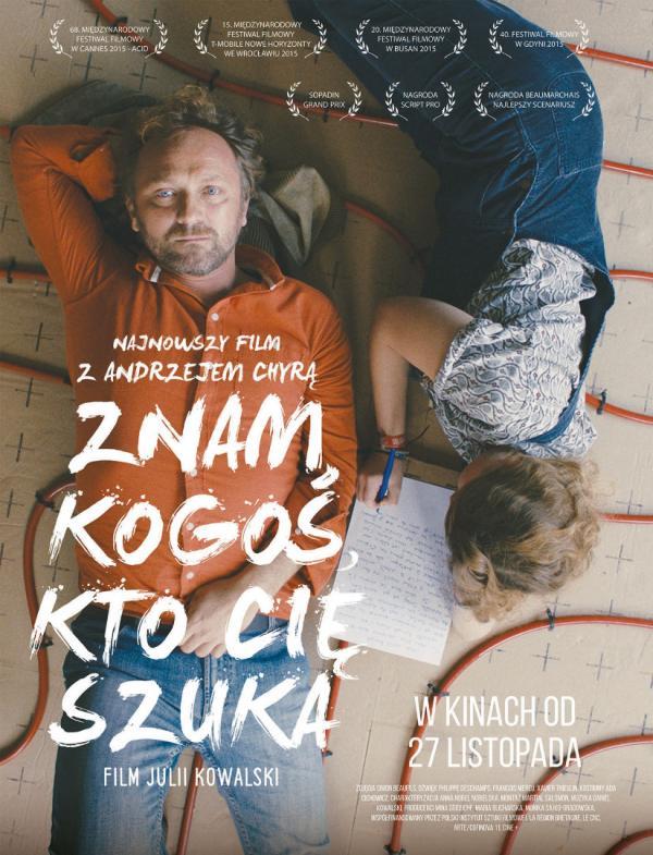 """""""Znam kogoś, kto cię szuka"""", reż. Julia Kowalski, plakat (źródło: materiały dystrybutora)"""
