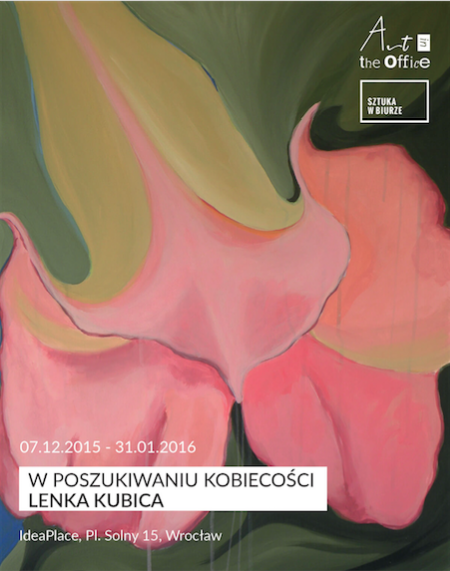 """Lenka Kubica, wystawa """"W poszukiwaniu kobiecości"""", plakat (źródło: materiały prasowe organizatora)"""