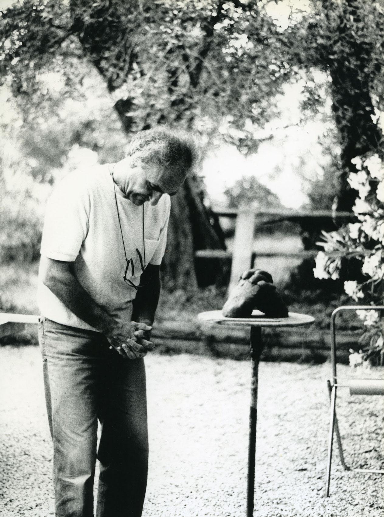 "Eduardo Chillida, ""Grasse"", fot. Hans Spinner, 1984 (źródło: materiały prasowe organizatora)"