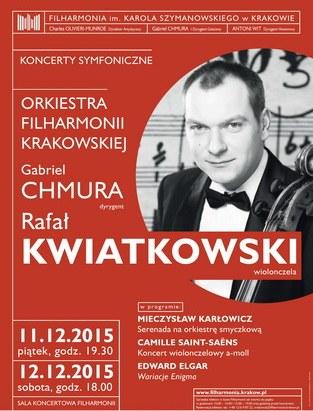 """""""Koncerty symfoniczne"""" − plakat (źródło: materiały prasowe organizatora)"""