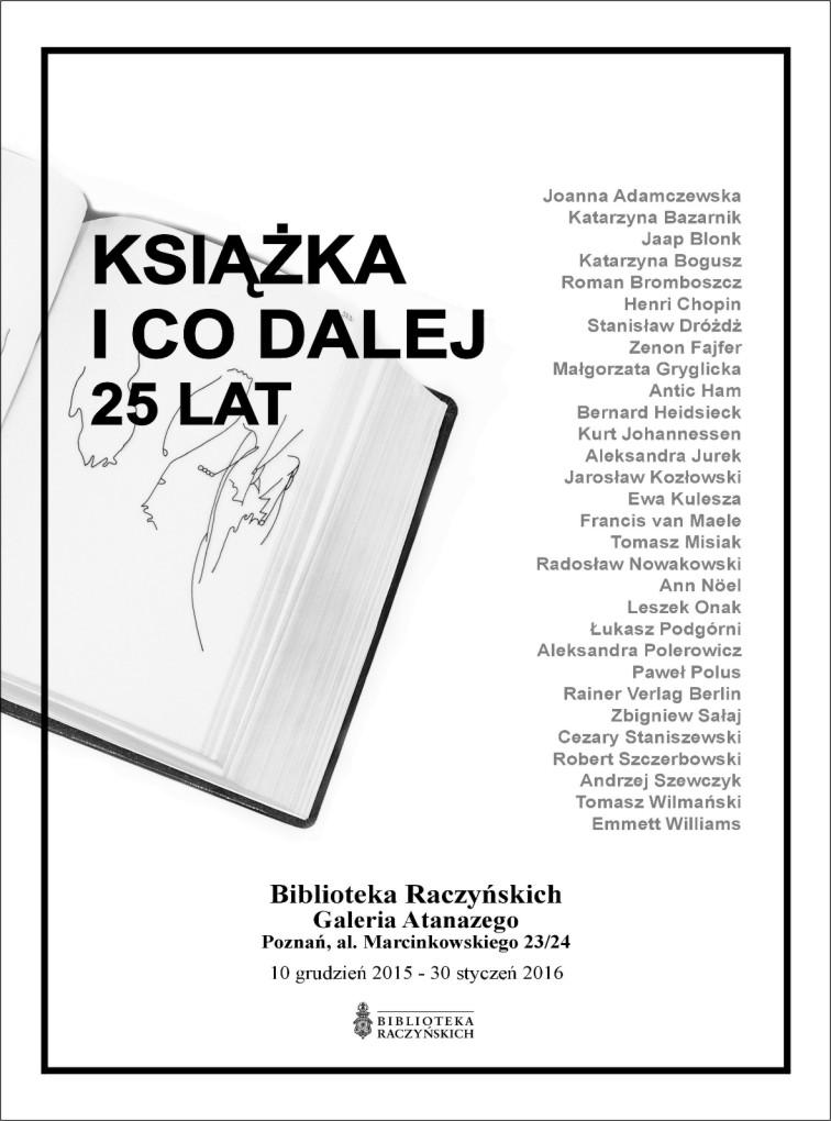 """""""Książka i co dalej. 25 lat"""" – plakat (źródło: materiały prasowe)"""