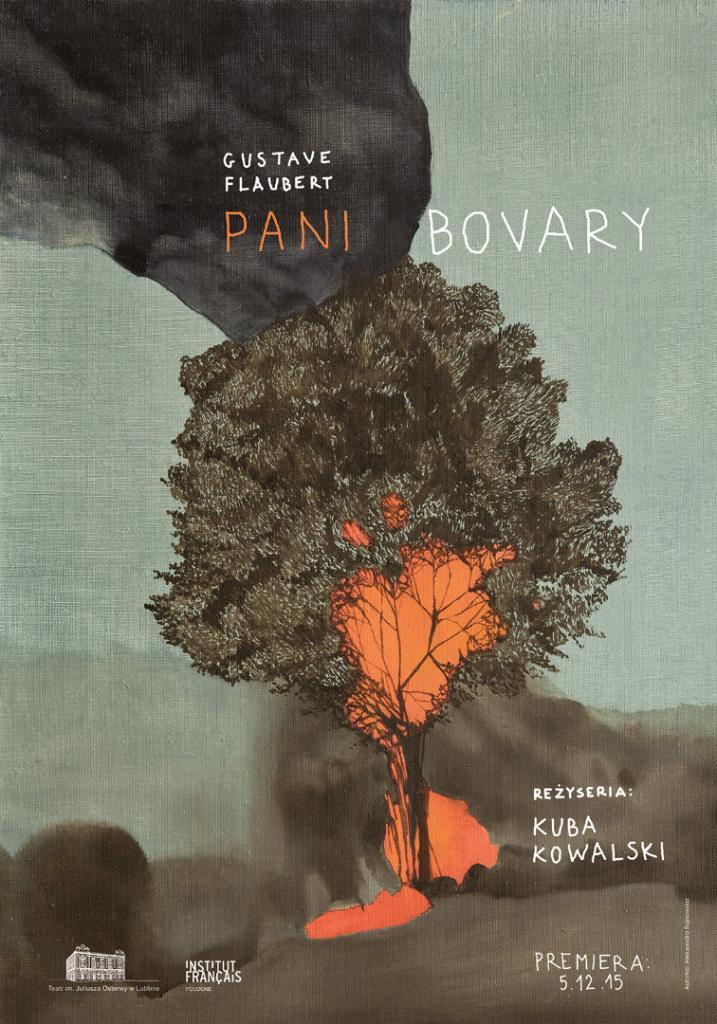 """""""Pani Bovary"""", reż. Kuba Kowalski, plakat (źródło: materiały prasowe organizatora)"""