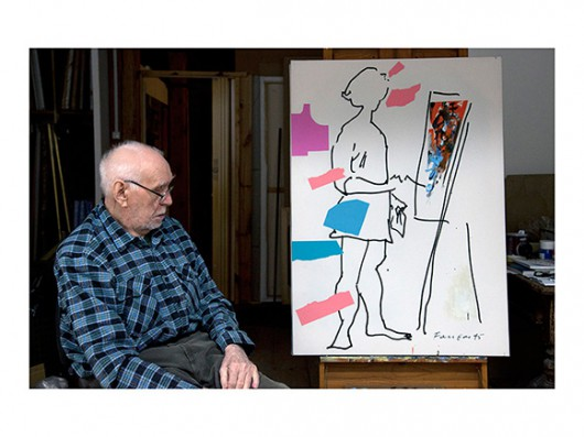 """Czesław Czapliński, """"Wojciech Fangor"""", Błędów k. Grójca, 2010 (źródło: materiały prasowe organizatora)"""
