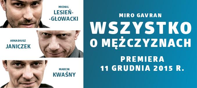 """""""Wszystko o mężczyznach"""", reż. Bartłomiej Wyszomirski, plakat (źródło: materiały prasowe organizatora)"""