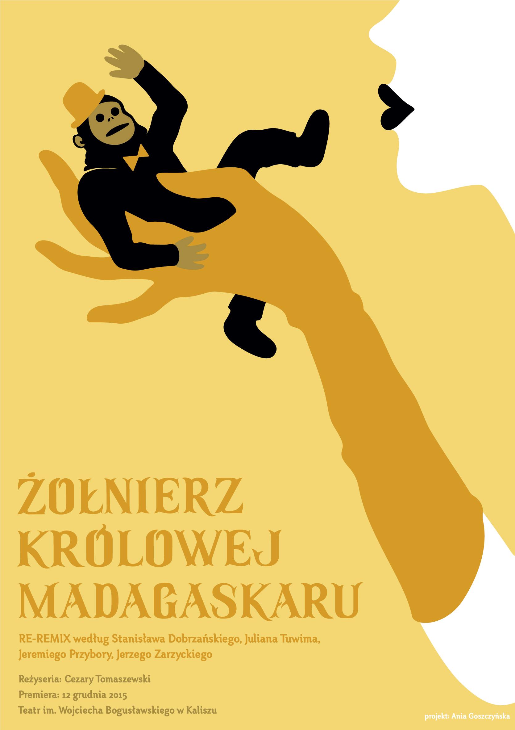"""""""Żołnierz królowej Madagaskaru. Re-remix"""", reż. Cezary Tomaszewski, plakat (źródło: materiały prasowe organizatora)"""