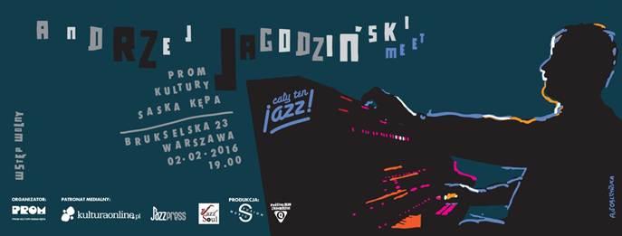 """""""Cały ten jazz! Meet! Andrzej Jagodziński"""" – plakat (źródło: materiały prasowe organizatora)"""