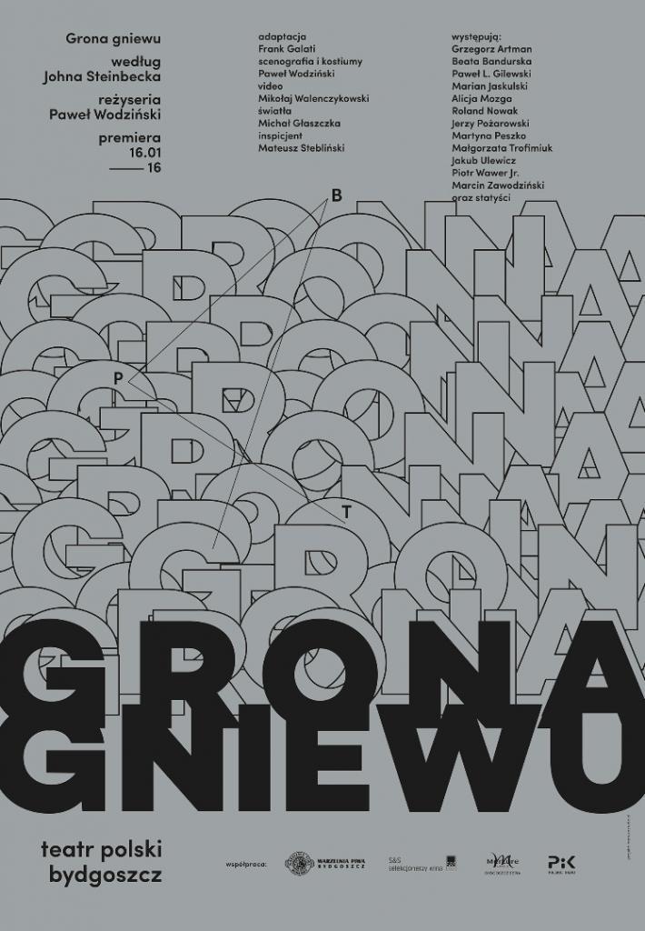 """""""Grona gniewu"""", reż. Paweł Wodziński, plakat (źródło: materiały prasowe organizatora)"""