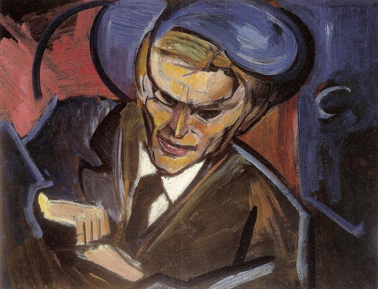 """Leon Chwistek, """"Portret Tytusa Czyżewskiego"""" (źródło: materiały prasowe organizatora)"""