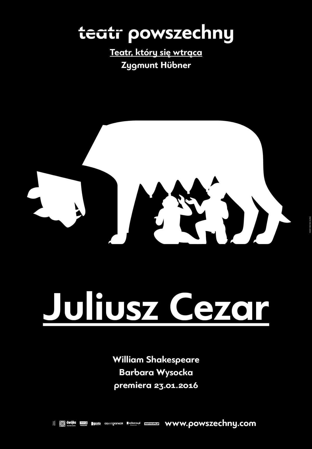 """""""Juliusz Cezar"""", reż. Barbara Wysocka, plakat (źródło: materiały prasowe organizatora)"""
