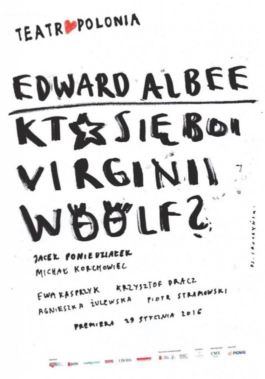 """""""Kto się boi Virginii Wolf?"""", reż. Jacek Poniedziałek, plakat proj. Patryk Sroczyński (źródło: materiały prasowe organizatora)"""