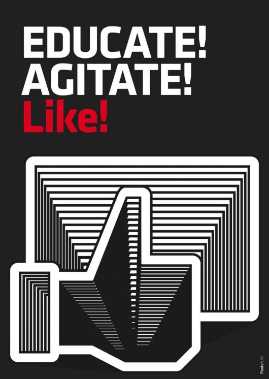 """DSG, """"Educate! Agitate! Like!"""", 2011, dzięki uprzejmości artystów (źródło: materiały prasowe organizatora)"""