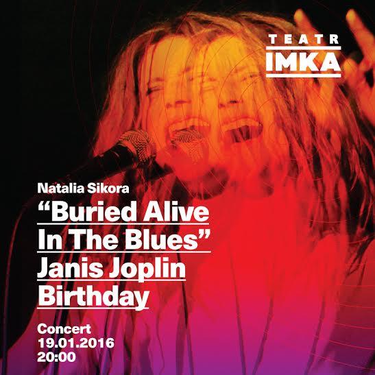"""""""Buried Alive In The Blues """" – plakat (źródło: materiały prasowe organizatora)"""