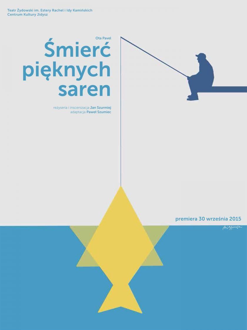 """""""Śmierć pięknych saren"""", reż. Jan Szurmiej, plakat proj. Andrzej Pągowski (źródło: materiały prasowe organizatora)"""
