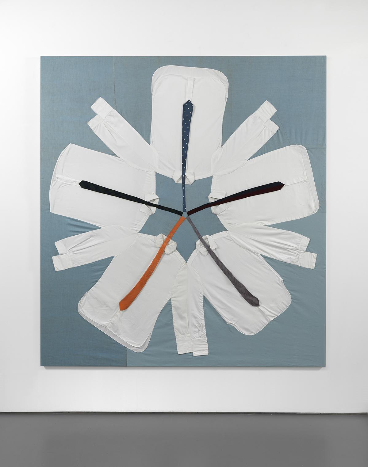 """Ulla von Brendenburg, """"Shirt Quilt"""", 2012–2014, dzięki uprzejmości artystki i Pilar Corrias (źródło: materiały prasowe organizatora)"""