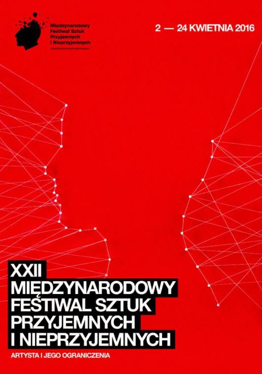 XXII Międzynarodowy  Festiwal Sztuk Przyjemnych i Nieprzyjemnych – plakat (źródło: materiały prasowe organizatora)