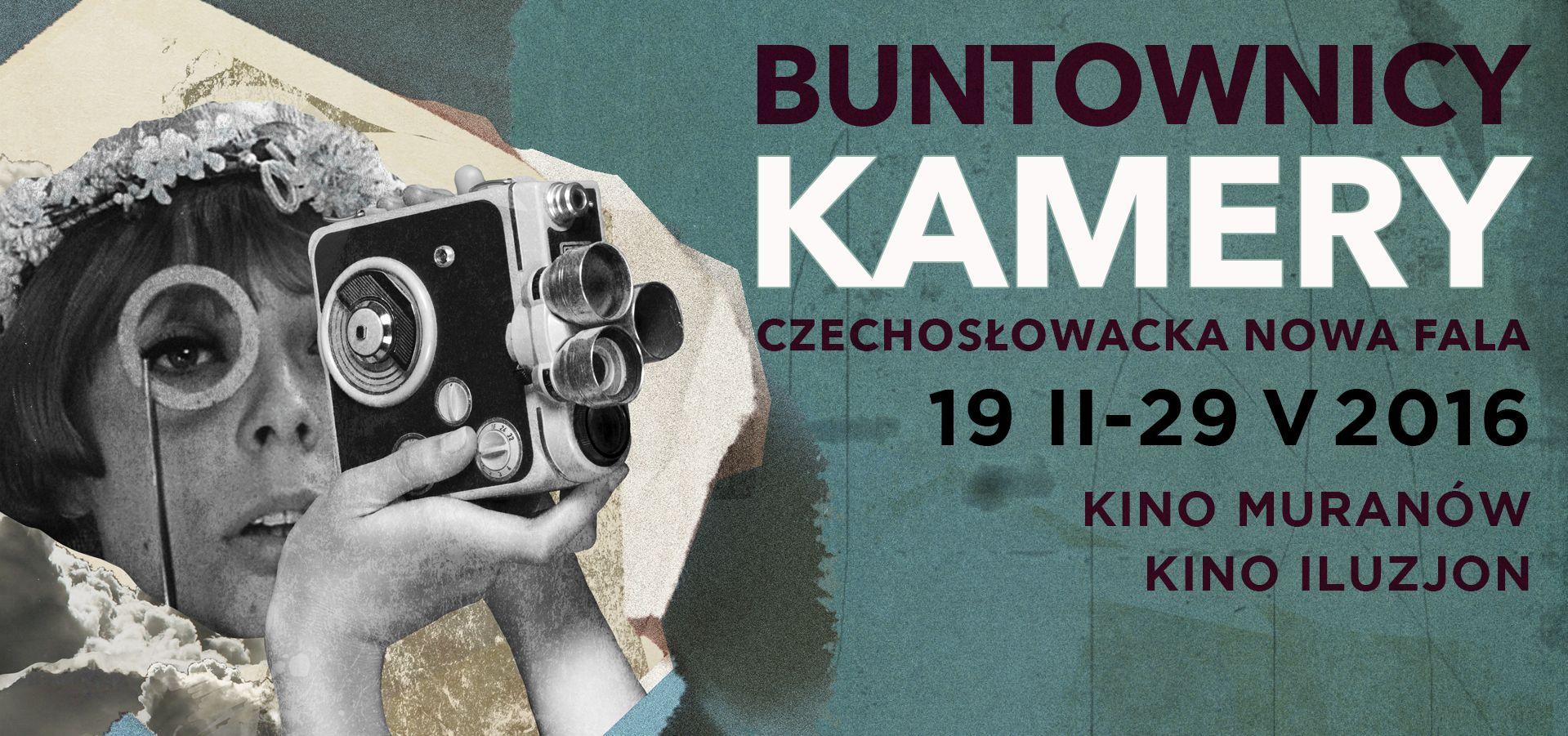 """Przegląd filmów """"Buntownicy kamery. Czechosłowacka nowa fala"""" (źródło: materiały prasowe organizatora)"""