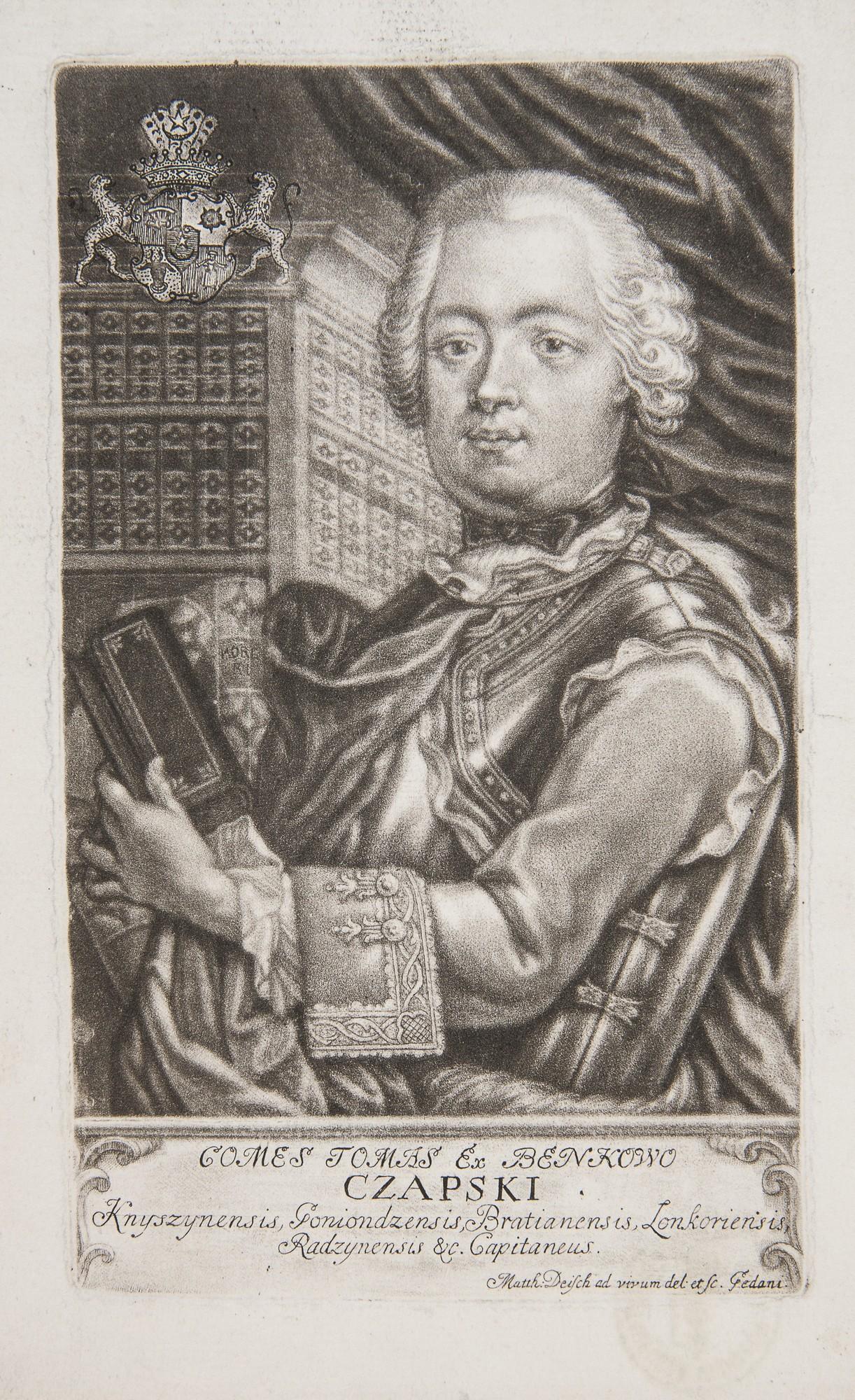 Ekslibris Tomasza Czapskiego, Gdańsk, ok. 1770, Deisch Matthäus, mezzotinta (źródło: materiały prasowe)