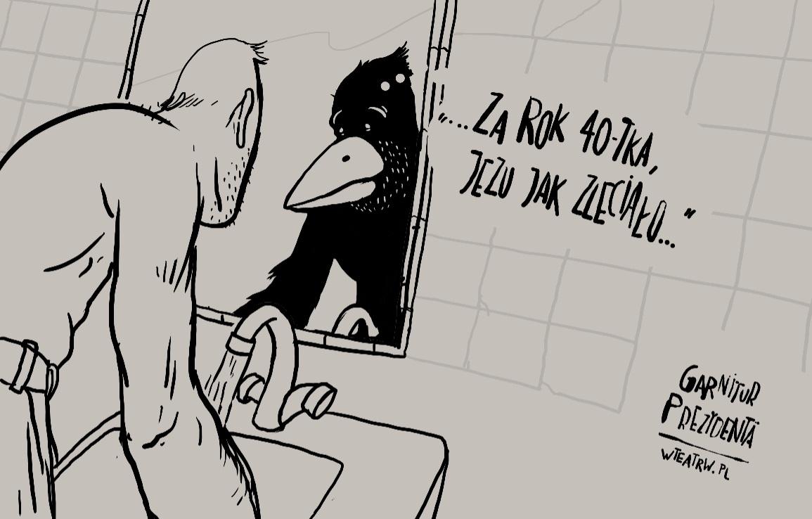 """""""Garnitur Prezydenta"""", reż. Cezary Iber, rysunki autorstwa Michała Araszkiewicza (źródło: materiały prasowe organizatora)"""