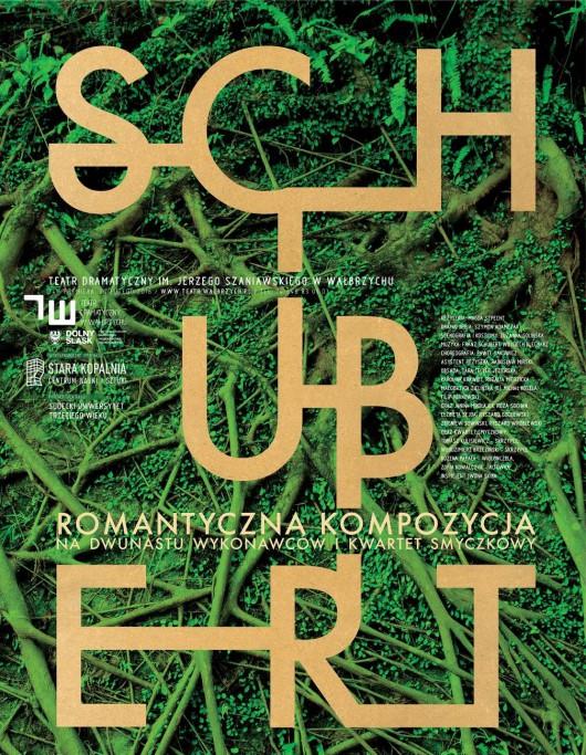 """""""Schubert. Romantyczna kompozycja na dwunastu wykonawców"""", reż. Magda Szpecht, plakat (źródło: materiały prasowe organizatora)"""