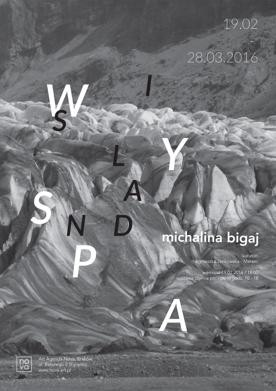 """Michalina Bigaj, """"Wyspa"""" – plakat (źródło: materiały prasowe organizatora)"""