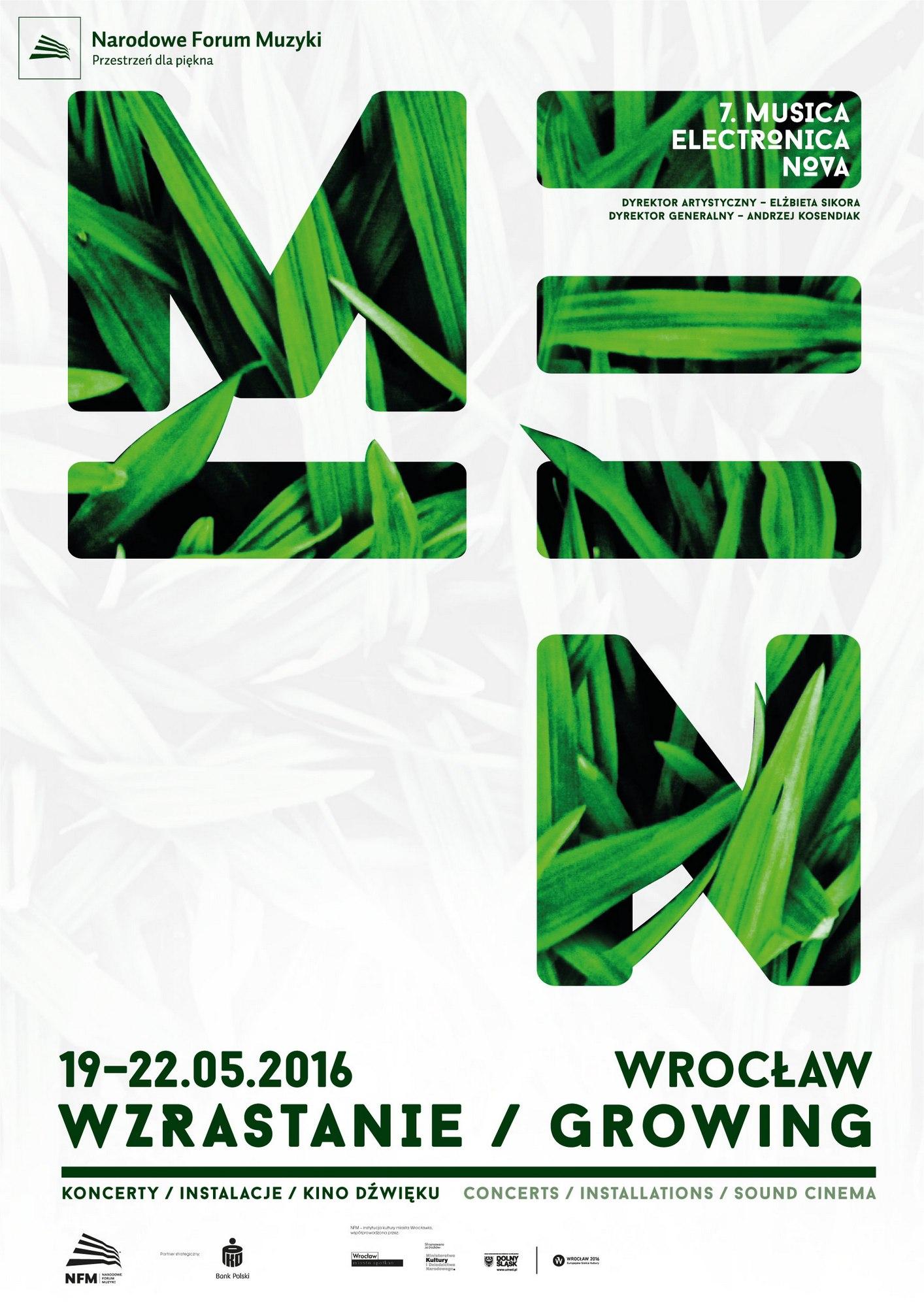 7. Musica Electronica Nova – Wzrastanie, plakat (źródło: materiały prasowe organizatora)