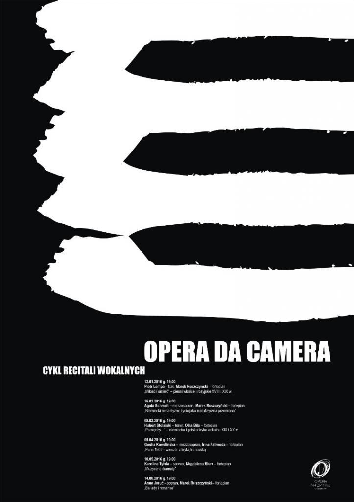 """""""Niemiecki romantyzm: życie jako metafizyczna przemiana"""" – koncert w ramach cyklu """"Opera da Camera"""", plakat proj. A. Pełechaty (źródło: materiały prasowe organizatora)"""