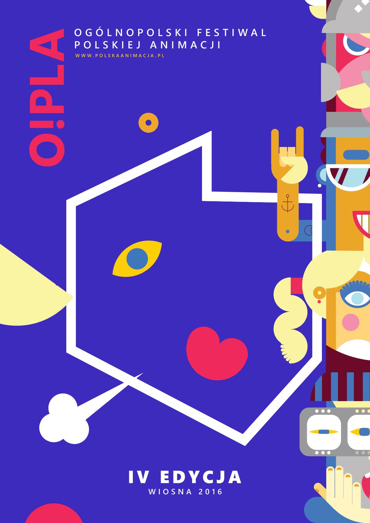 Ogólnopolski Festiwal Polskiej Animacji O!PLA 2016 – plakat (źródło: materiały prasowe organizatora)