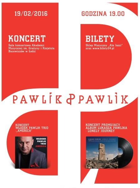 """""""Pawlik & Pawlik"""" – koncert, plakat (źródło: materiały organizatora)"""