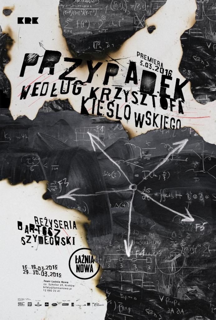 """""""Przypadek według Krzysztof Kieślowskiego"""", reż. Bartosz Szydłowski, plakat (źródło: materiały prasowe organizatora)"""