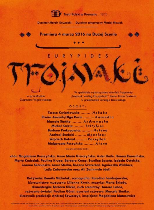 """""""Trojanki"""", reż. Kamila Michalak, plakat (źródło: materiały prasowe)"""