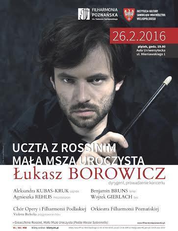 """""""Uczta z Rossinim. Mała Msza Uroczysta"""" – plakat (źródło: materiały prasowe organizatora)"""