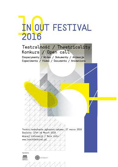 """10. IN OUT Festival"" – plakat (materiały prasowe organizatora)"