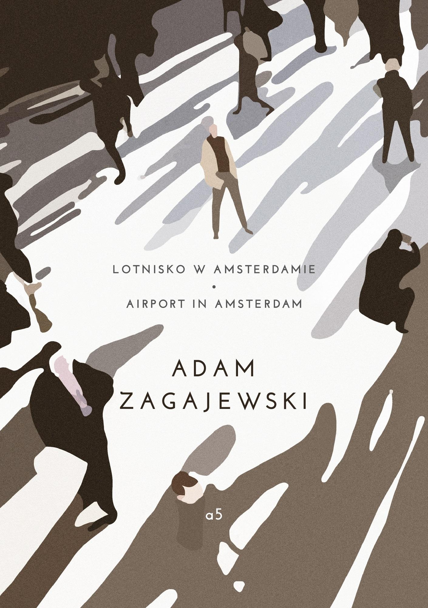 """Adam Zagajewski, """"Lotnisko w Amsterdamie"""" – okładka (źródło: materiały prasowe)"""