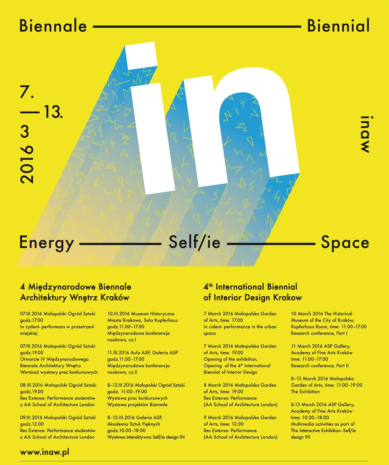 IV Międzynarodowe Biennale Architektury Wnętrz, plakat (źródło: materiały prasowe organizatora)
