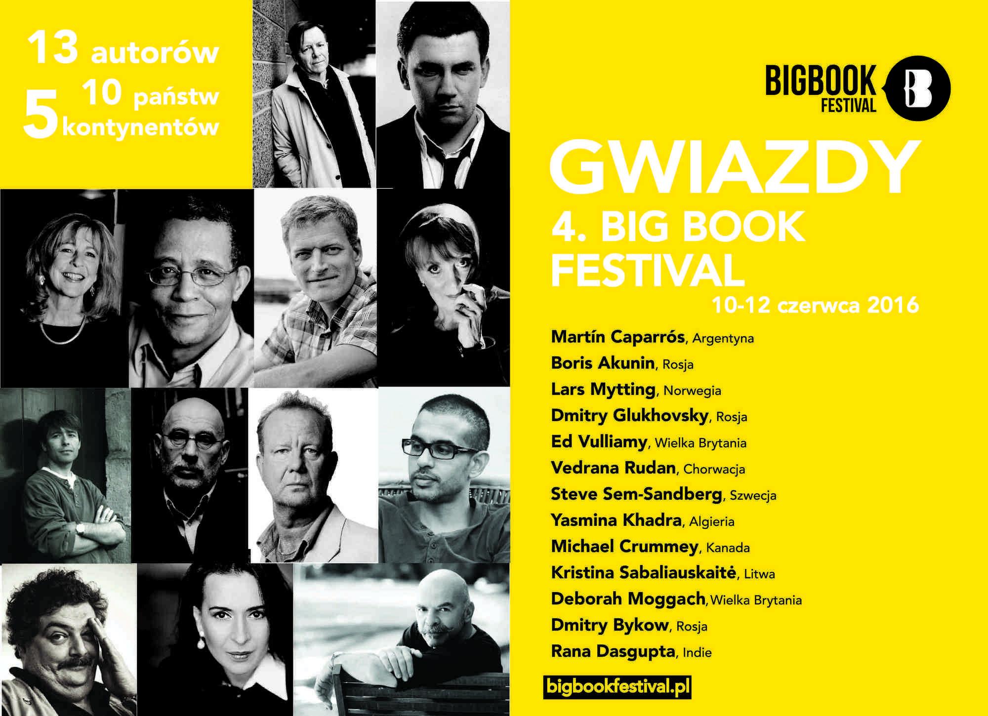 4. Big Book Festival – zagraniczni autorzy (źródło: materiały prasowe)