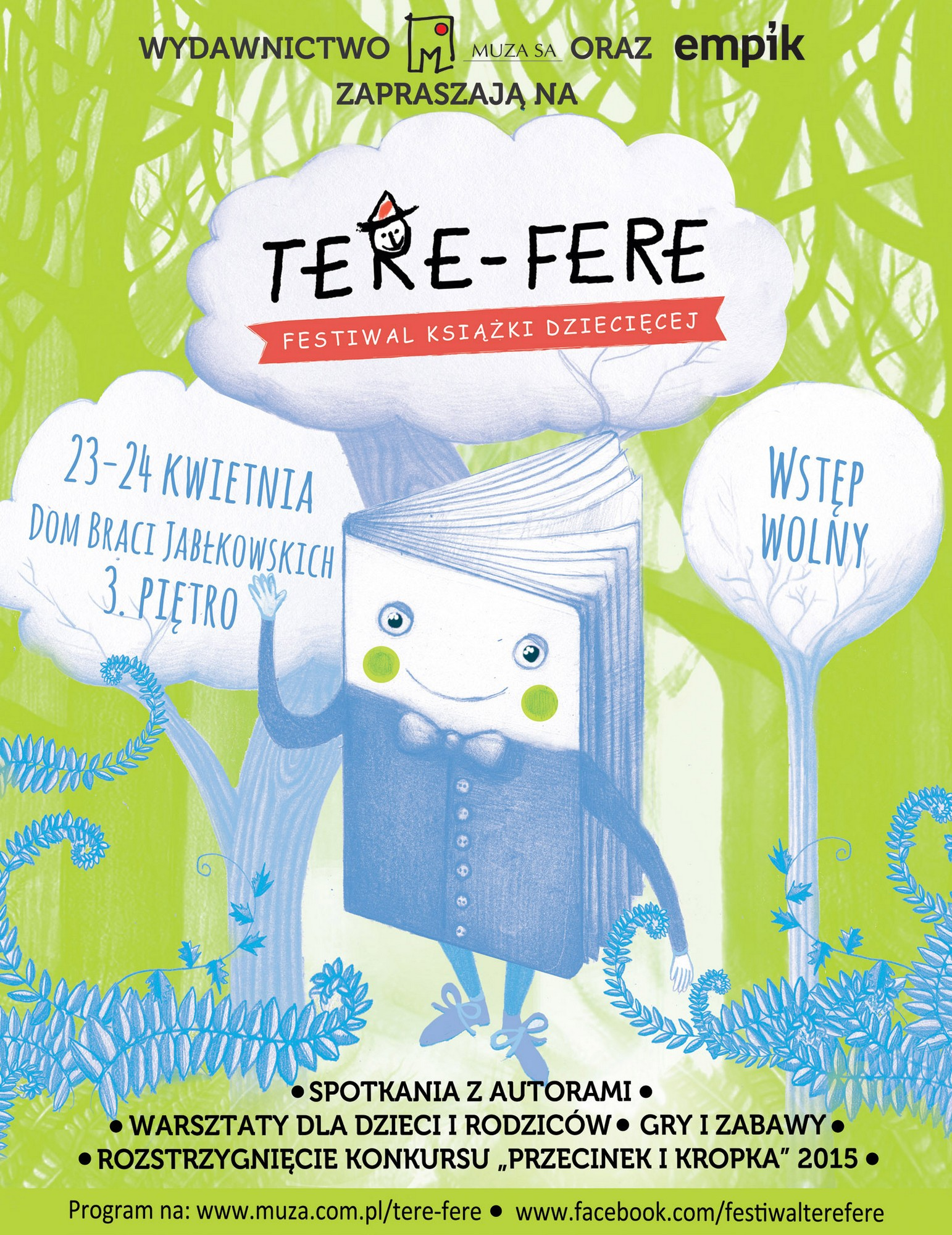Festiwal Książki Dziecięcej Tere-Fere – plakat (źródło: materiały prasowe)